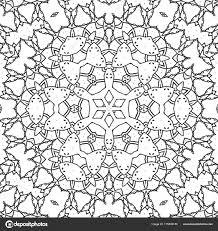 Abstract Kleurplaat Pagina Tekenen Monochroom Mandala Met