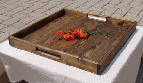 Large Wooden Ottoman Tray With Regard To Wooden Tray Ottoman Extra Large  Wooden Tray For Ottoman
