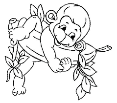 Spider Pictures To Color Printable Baby Monkey Coloring Pages Spider