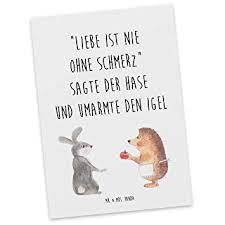 Amazonde Mr Mrs Panda Geschenkkarte Sprüche Postkarte Liebe