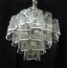 mid century modern chandelier large large mid century italian modern camer glass chandelier