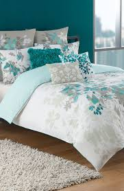 kas designs luella 180 thread count duvet cover available at nordstrom teal gray