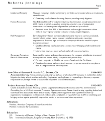 in house counsel resume examples