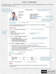 Top Cv Mistakes How To Write The Perfect Cv Intapeople