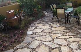 slate pavers with stone could be
