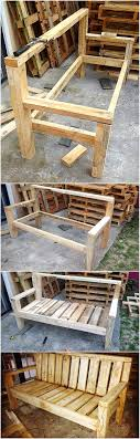 reclaimed wood pallet bench. DIY Recycled Wood Pallet Bench Plan Reclaimed A