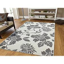 gray area rug 8x10 contemporary leaves design modern area rug 5x8 leaf pattern grey and cream