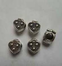 image is loading whole 20pcs tibetan silver alloy big hole heart
