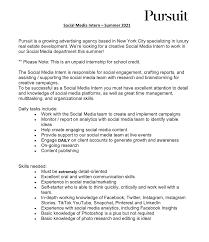 social a intern at pursuit summer 2021