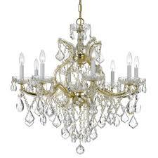 crystorama maria theresa 9 light swarovski strass crystal gold chandelier