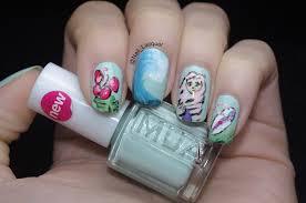 Beach themed nail art - Nail Lacquer UK
