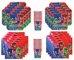 Pj Mask Party Decorations Amazon PJ Masks Birthday Party Supplies Bundle Pack for 60 36