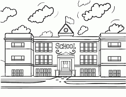 Small Picture School House Coloring Page intended to Invigorate to color page