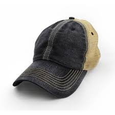 Blank Salt-washed™ Trucker Hat, Black