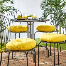 com greendale home fashions 15 in round outdoor bistro chair cushion set of 4 sunbeam home kitchen
