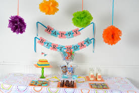 sweetlooking birthday party at home ideas simple decoration for
