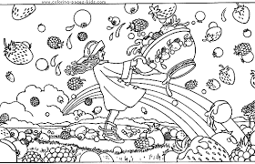 Small Picture Coloring Pages About Fruits Coloring Pages
