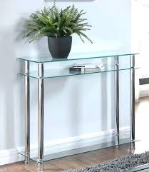 black hall table glass hallway table amusing glass hallway table of console clear or black chrome