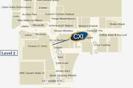find cxi in westfield garden state plaza mall map