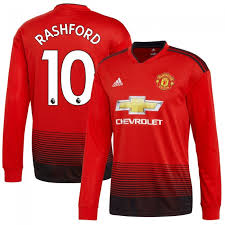 Premier United dorsal Larga League Oficial Rashford Del 10 Local 2018-2019 Manga Camiseta Manchester - deebffac|Down And Distance