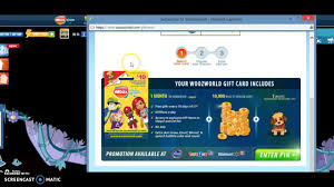 how to use a gift card in woozworld