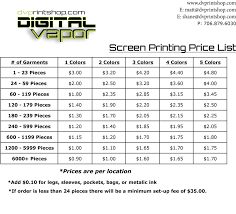 Screen Printing Pricing