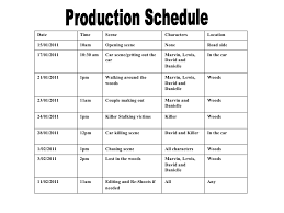 Film Production Calendar Template Film Shooting Schedule Sample Barca Fontanacountryinn Com
