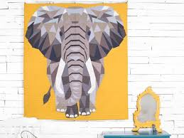 Elephant Abstraction Quilt Kit | Craftsy & 1 / 8 Adamdwight.com