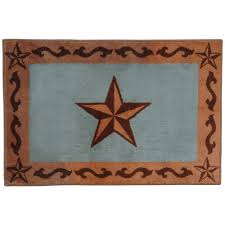 turquoise star bath rug