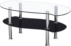 colby coffee table glass clear