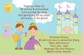 personalised birthday party invitations prince and princess personalised birthday party invitations prince and princess