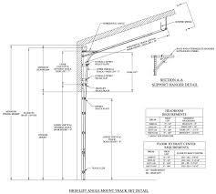 height of garage door high follow roof pitch lift high follow roof pitch door track low headroom garage door kit