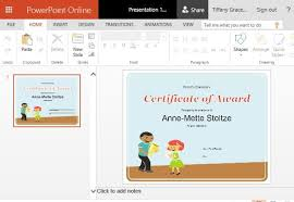 Microsoft Powerpoint Certificate Template How To Create Printable Award Certificates In Powerpoint