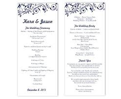 Microsoft Wedding Program Templates Wedding Program Template Word Programs Reception Microsoft