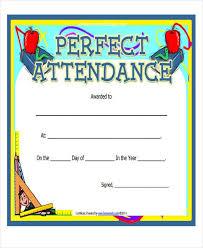 Attendance Award Template 28 Best Of Perfect Attendance Award Template