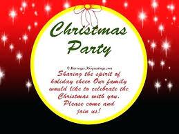 Holiday Invitation Wording Samples Holiday Party Invitation Merry