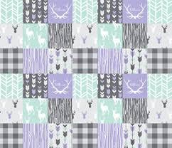 baby girl quilt mint purple gray grey