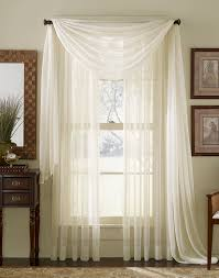 sheer curtains for large windows and swag curtain ideas