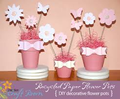 Paper Flower Pots Recycled Paper Flower Pots Pazzles Craft Room