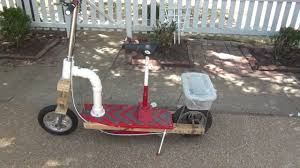 homemade motor scooter with suspension