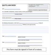 Quit Claim Deed Form Custom Sample Quitclaim Deed Form 44 Free Documents In Pdf Word Within