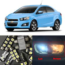Chevrolet Sonic Lights Us 13 5 10 Off 15pcs White Auto Led Light Bulbs For 2012 2013 2014 2015 Chevy Chevrolet Sonic Interior Package Kit Dome Map License Plate Lamp In