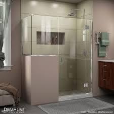 hinged shower enclosure 24 in inline ress panel unidoor x 57 60 in x 30 3 8 40 3