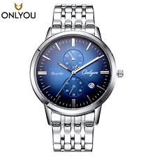 high quality blue gold watch men promotion shop for high quality men watches brand luxury famous onlyou sliver blue rose gold watch women waterproof stainless steel day date wristwatch 81103