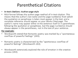 parenthetical citation in mla format how to cite sources in essay mla citation in essay test consultant