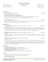 resume for freshman in college. princeton resume template college freshman  resume examples ...