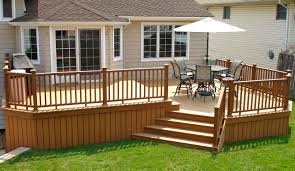 Bi Level Deck Designs Trex Bi Level Deck With Trex Railings My Deck Building A