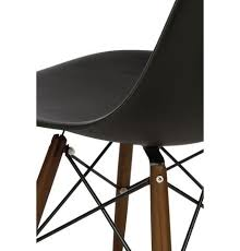 ray eames furniture. charles ray eames style dsw side chair black walnut legs furniture