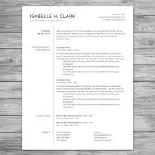 Professional Minimalist Resume Template Cv Template Printable