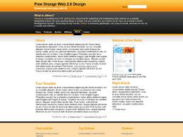Web 2 0 Design Template Free Html Css Templates For Downloading Orange Web 2 0